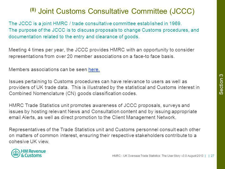 (8) Joint Customs Consultative Committee (JCCC)