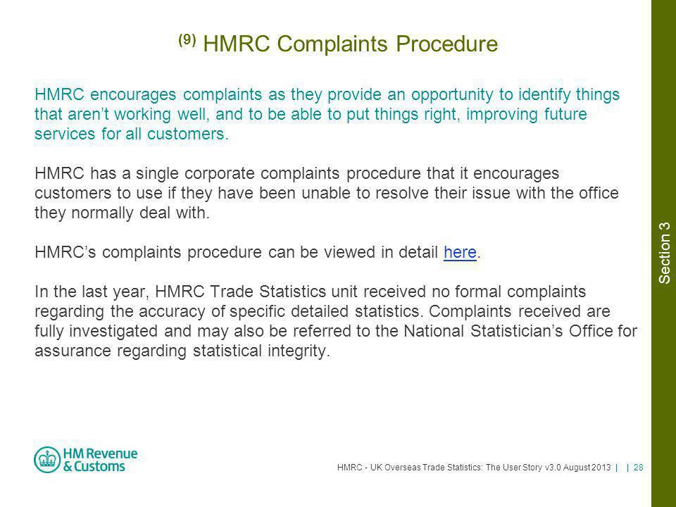 (9) HMRC Complaints Procedure