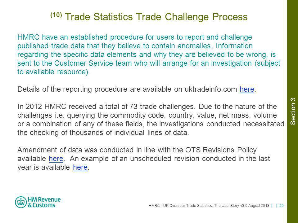 (10) Trade Statistics Trade Challenge Process