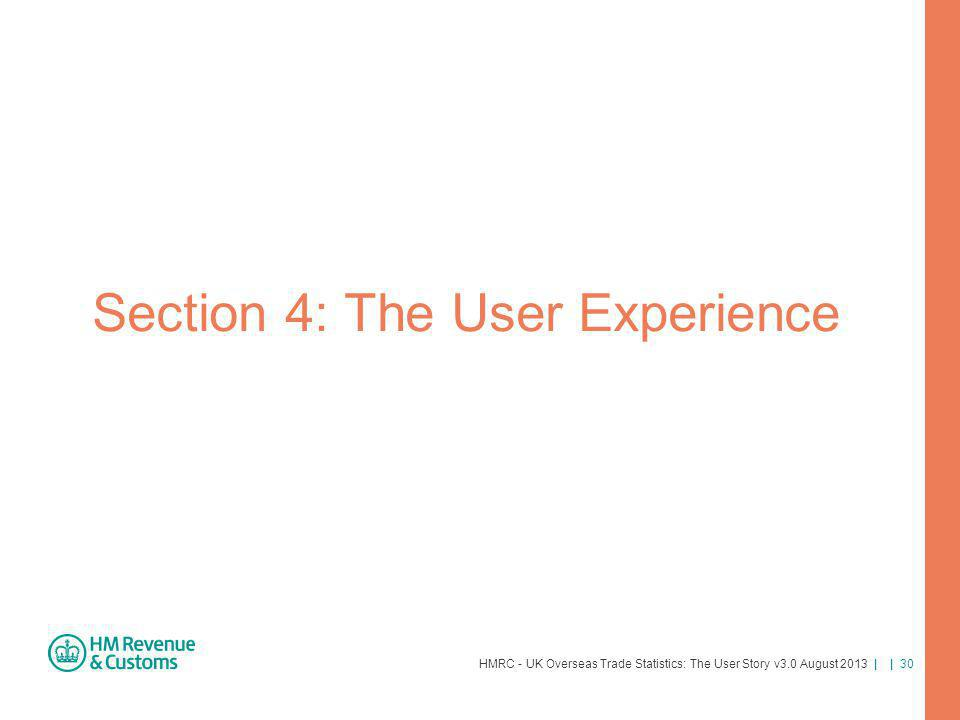 Section 4: The User Experience