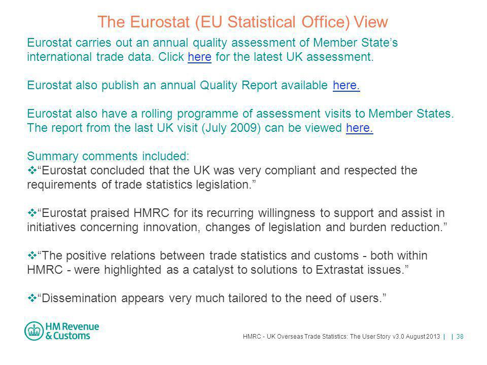 The Eurostat (EU Statistical Office) View