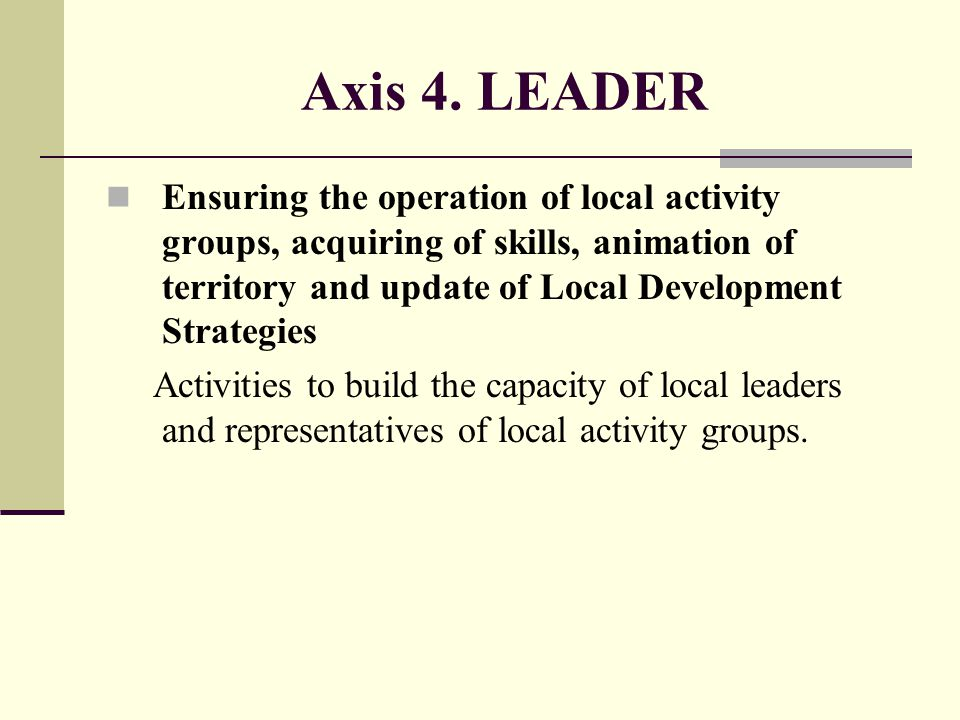 Axis 4. LEADER