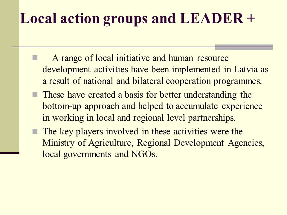 Local action groups and LEADER +