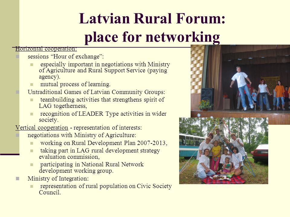 Latvian Rural Forum: place for networking