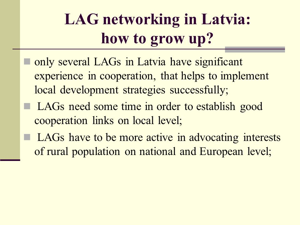 LAG networking in Latvia: how to grow up
