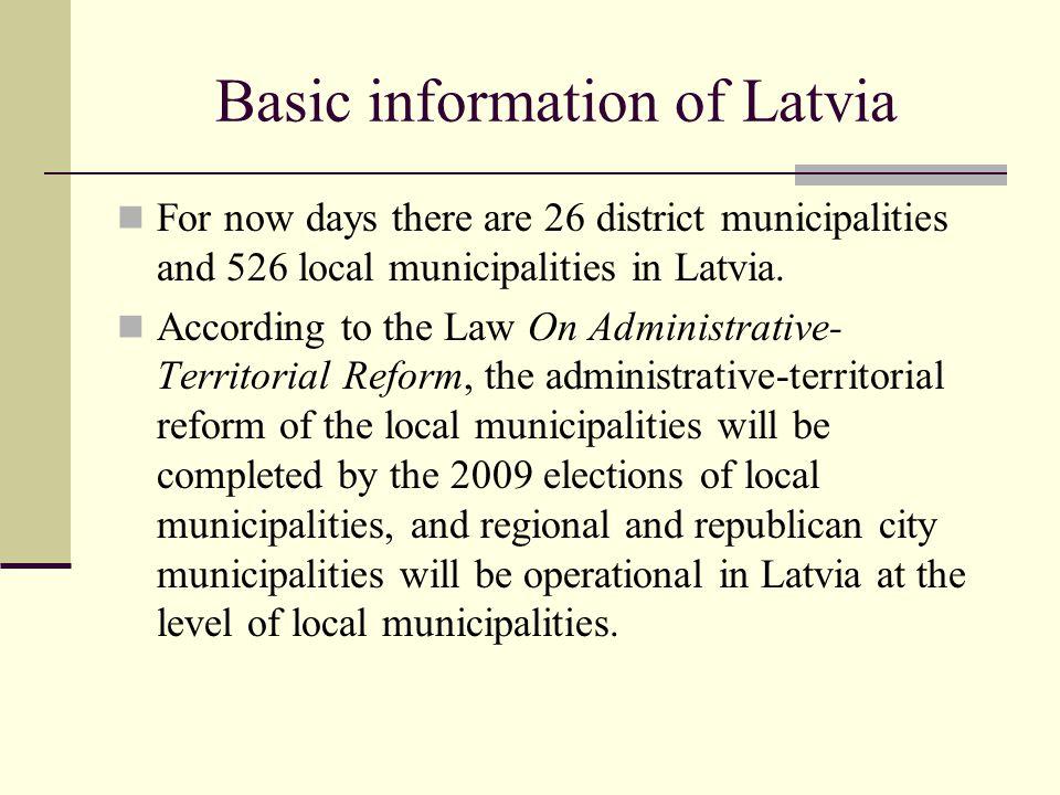 Basic information of Latvia