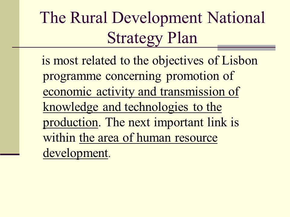 The Rural Development National Strategy Plan