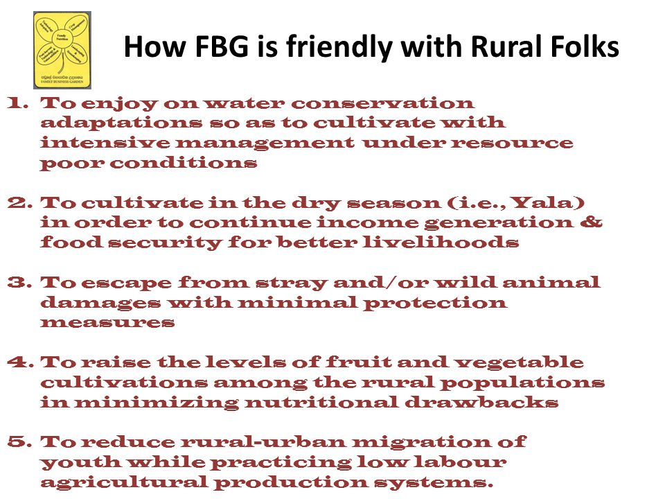 How FBG is friendly with Rural Folks