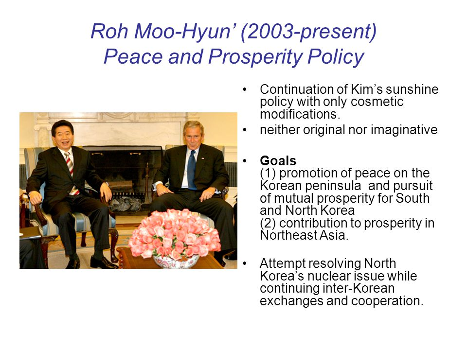 Roh Moo-Hyun' (2003-present) Peace and Prosperity Policy