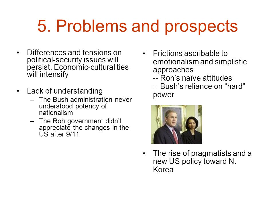 5. Problems and prospects