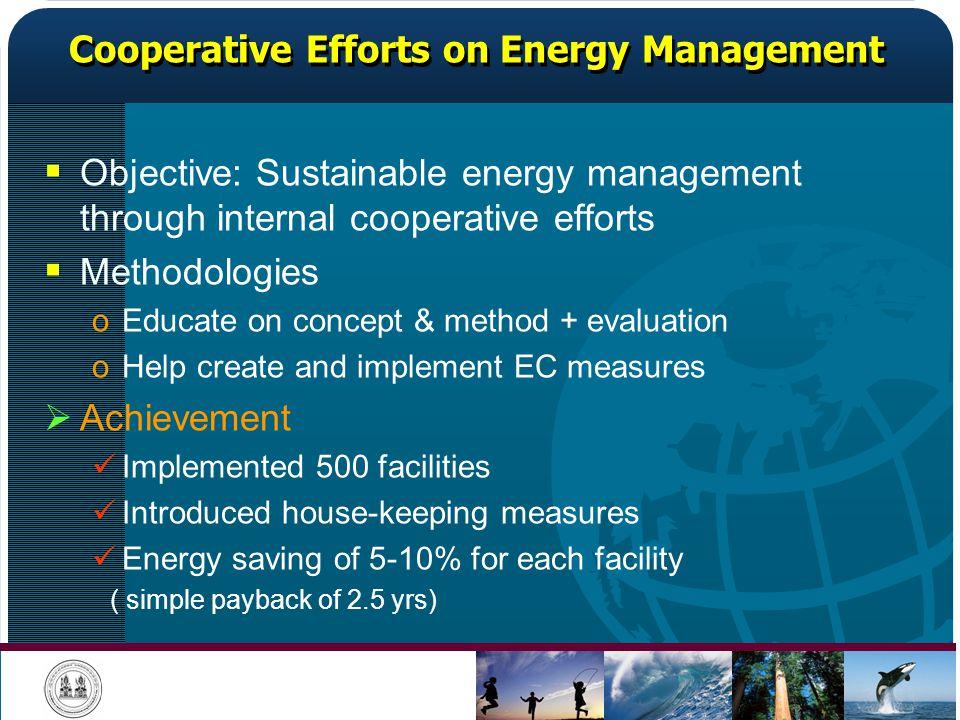 Cooperative Efforts on Energy Management