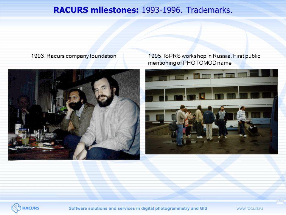 RACURS milestones: 1993-1996. Trademarks.