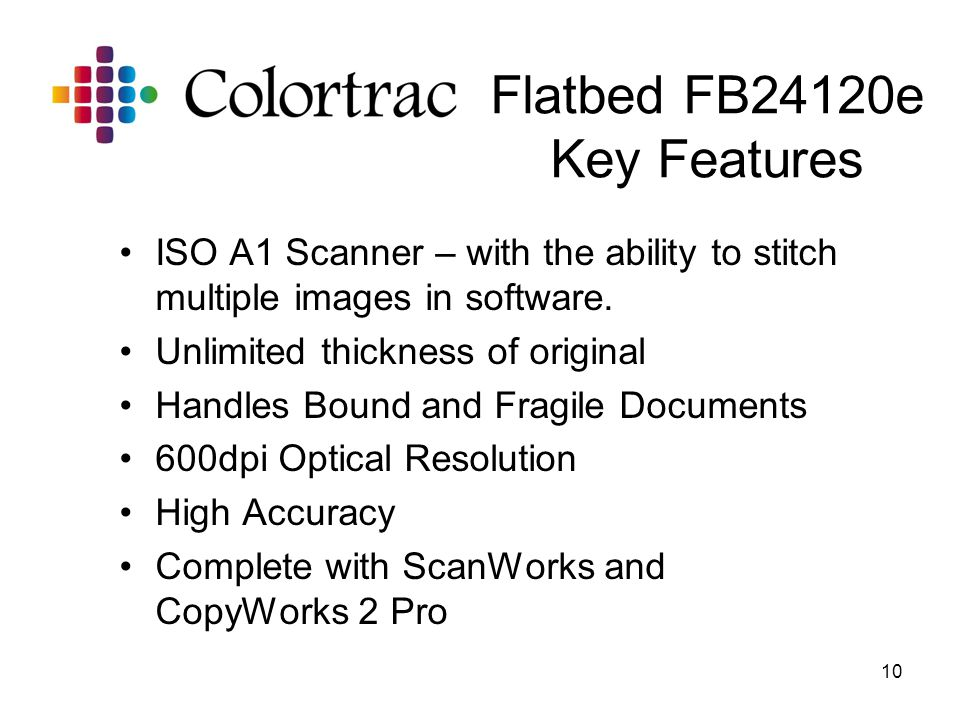Flatbed FB24120e Key Features