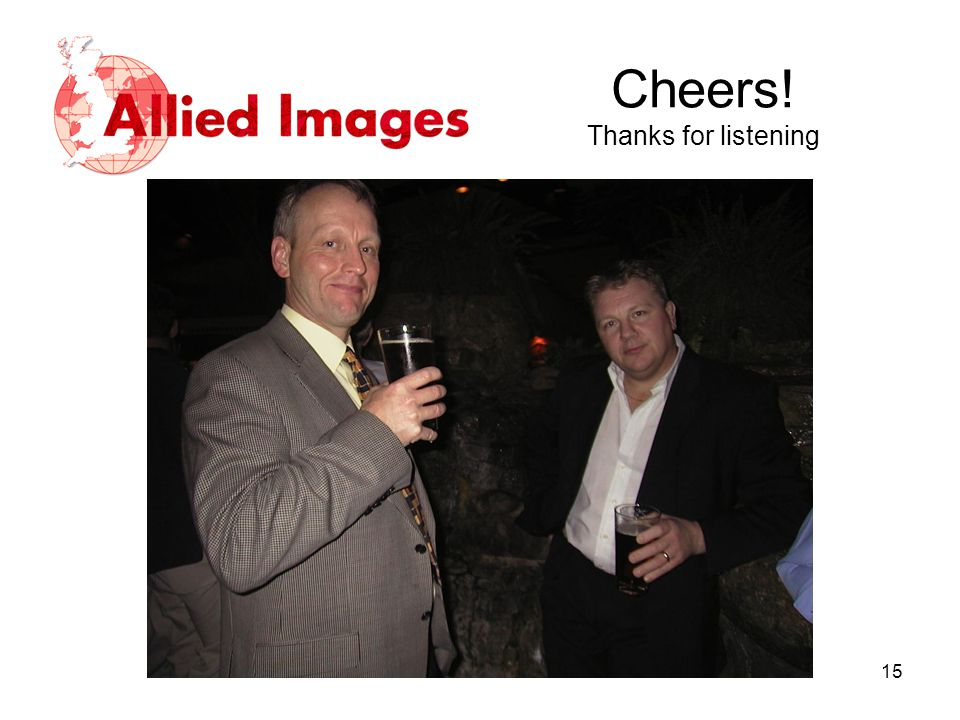 Cheers! Thanks for listening