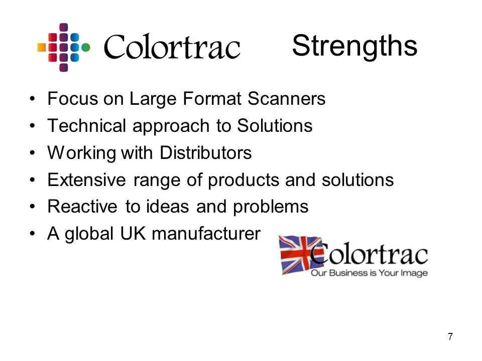 Strengths Focus on Large Format Scanners