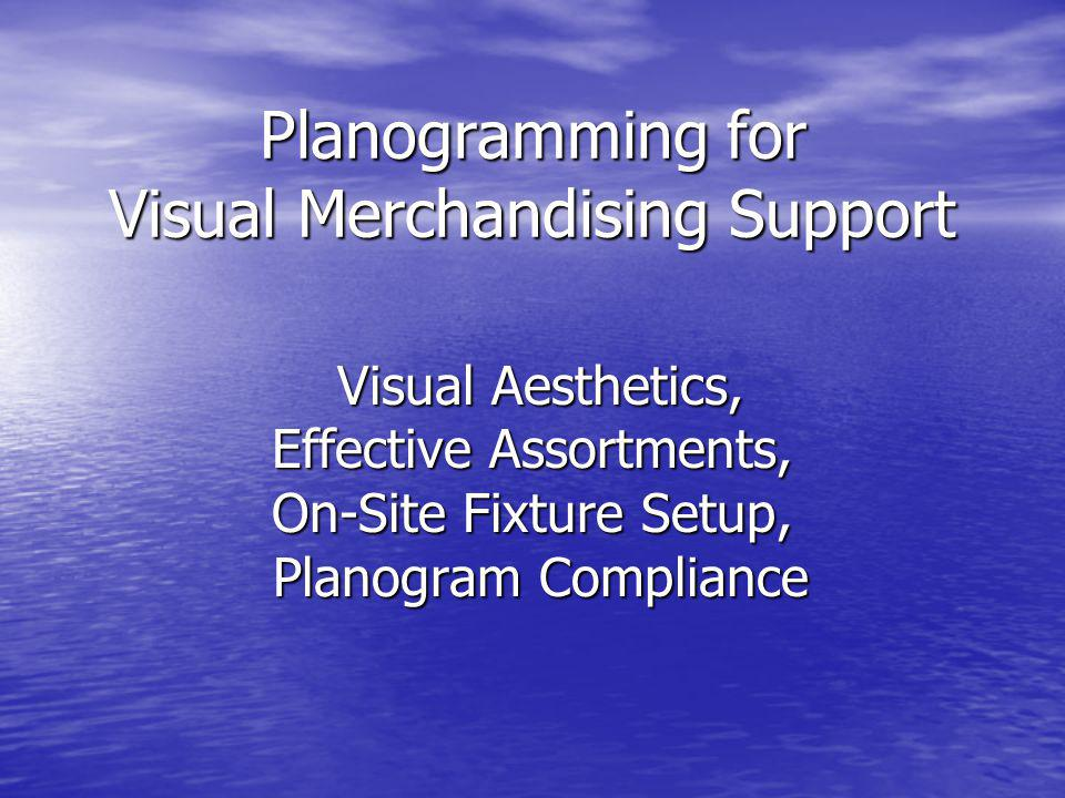 Planogramming for Visual Merchandising Support