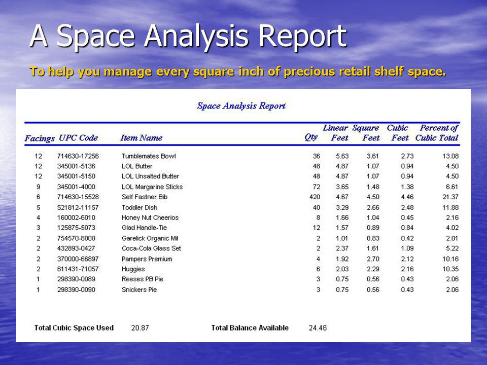 A Space Analysis Report