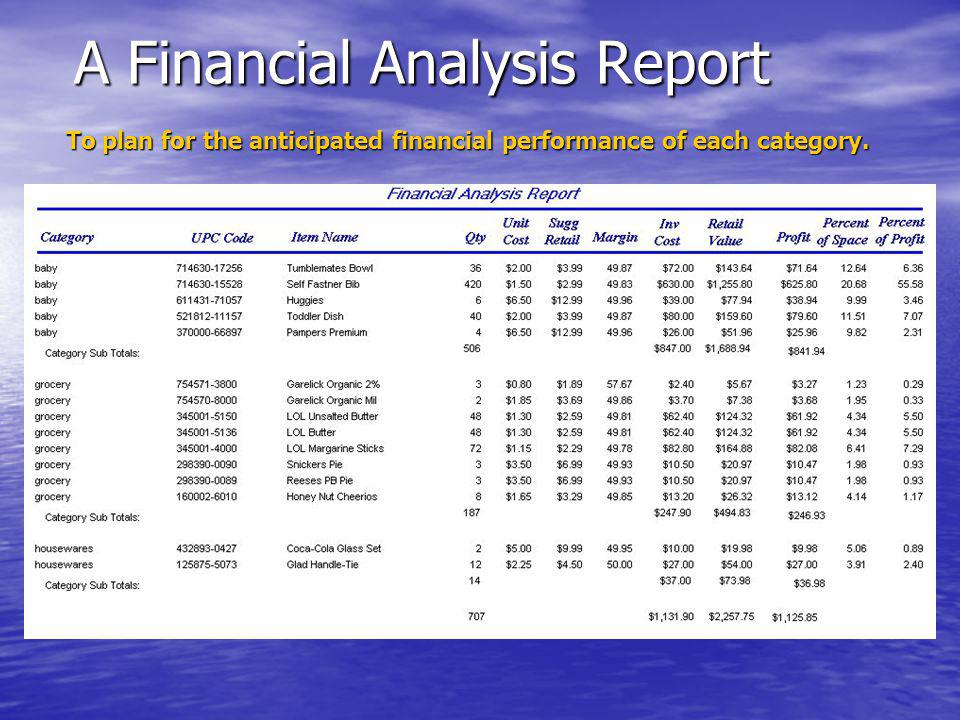 A Financial Analysis Report