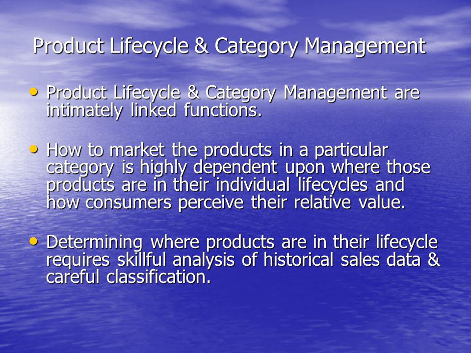 Product Lifecycle & Category Management