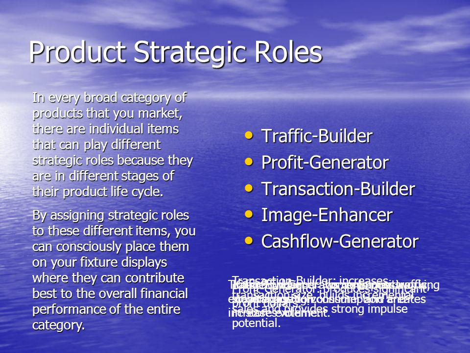 Product Strategic Roles
