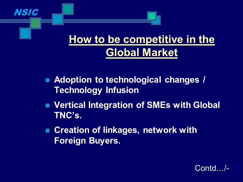 How to be competitive in the Global Market