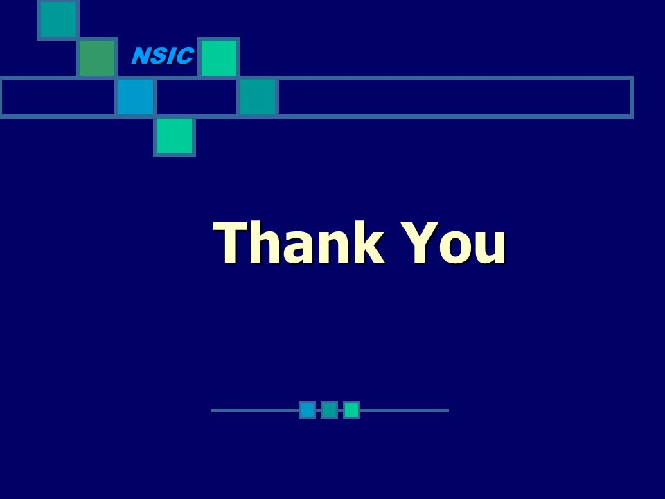 NSIC Thank You