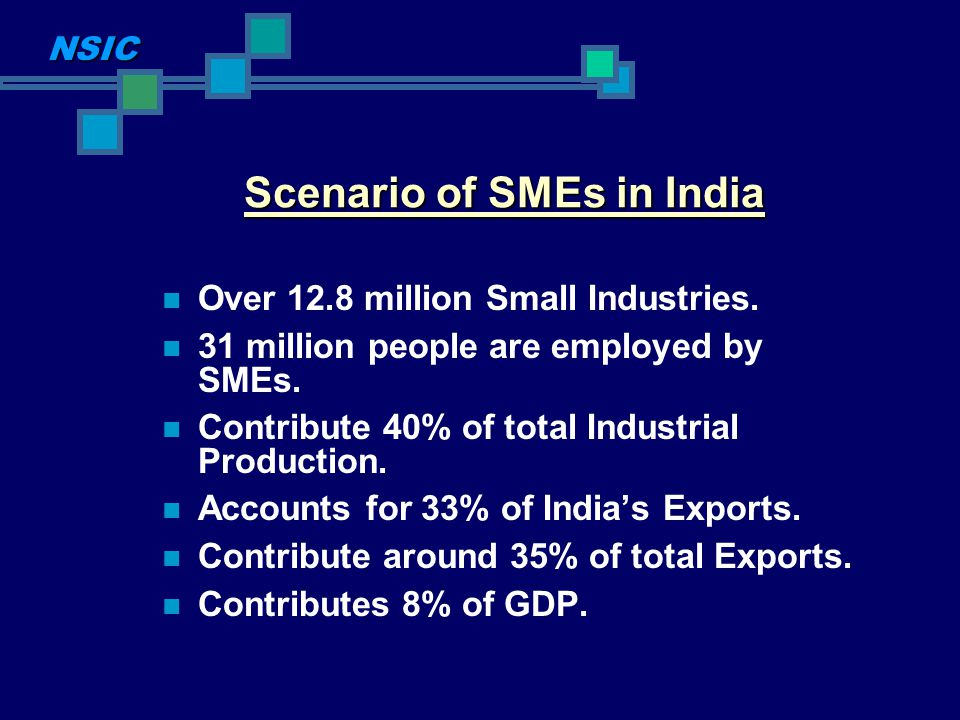 Scenario of SMEs in India