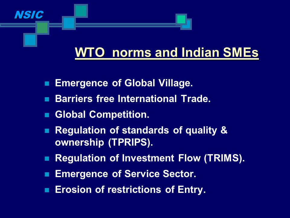 WTO norms and Indian SMEs