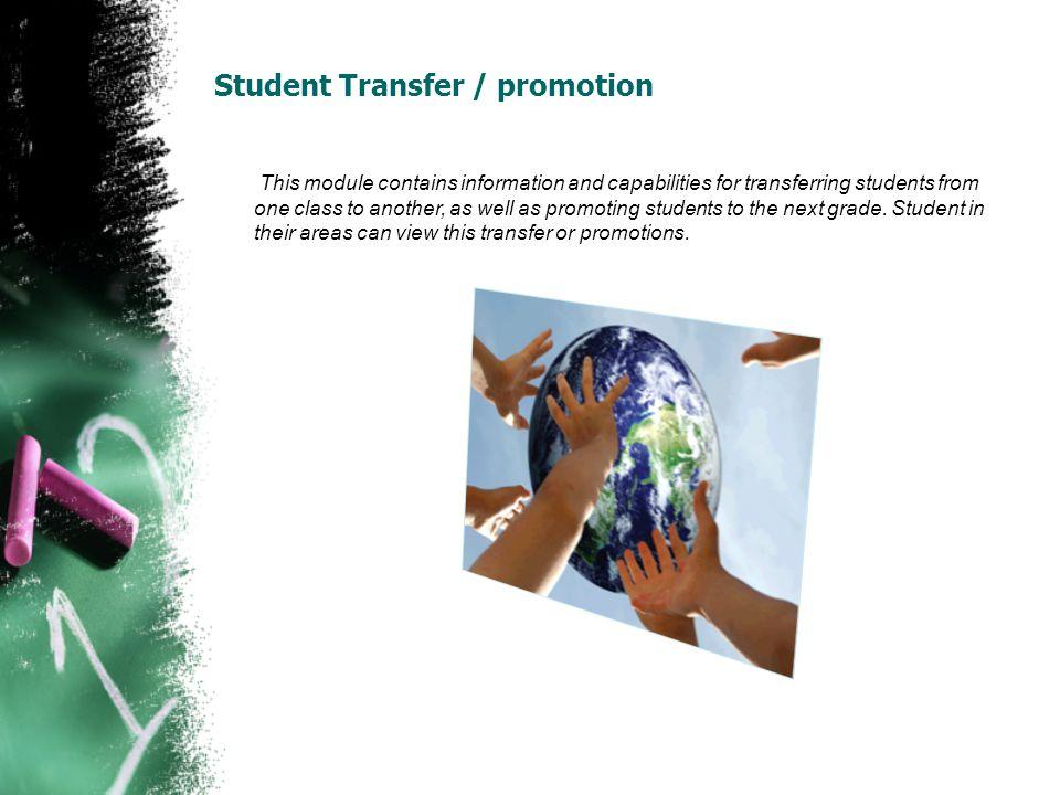 Student Transfer / promotion