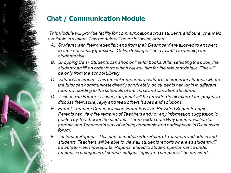 Chat / Communication Module