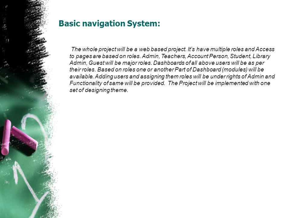 Basic navigation System: