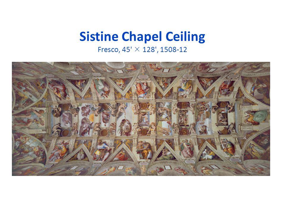 Sistine Chapel Ceiling Fresco, 45  128 , 1508-12