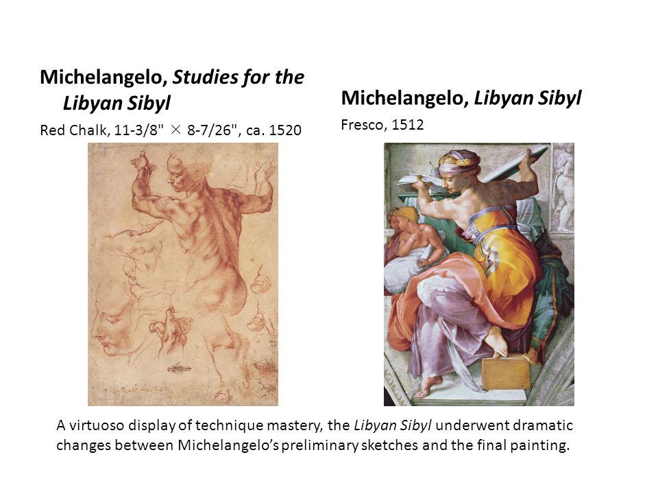 Michelangelo, Libyan Sibyl Michelangelo, Studies for the Libyan Sibyl