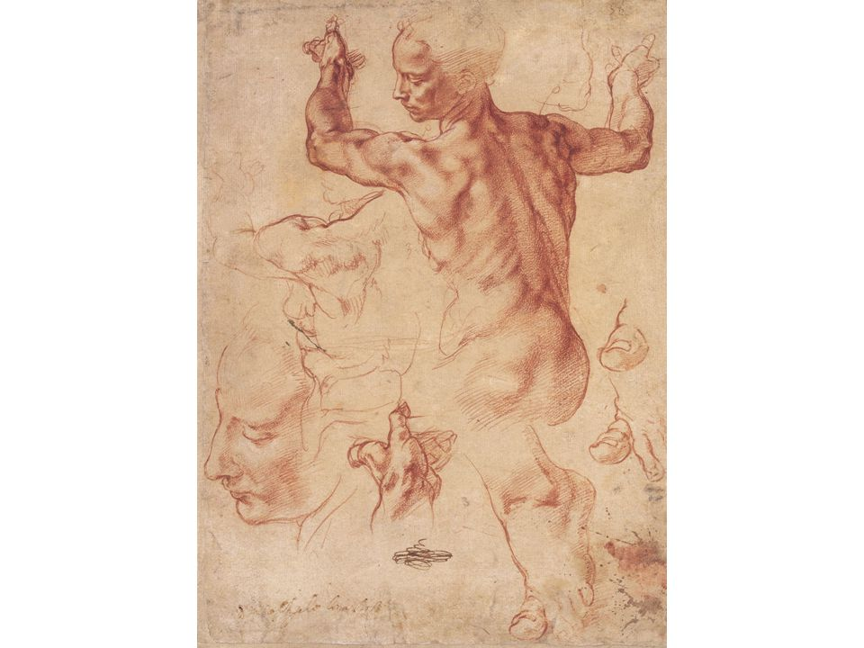 Michelangelo, Studies for the Libyan Sibyl