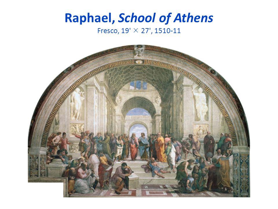 Raphael, School of Athens Fresco, 19  27 , 1510-11