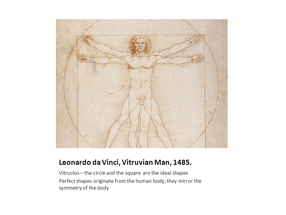 Leonardo da Vinci, Vitruvian Man, 1485.