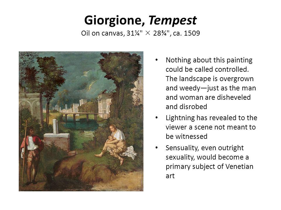 Giorgione, Tempest Oil on canvas, 31¼  28¾ , ca. 1509