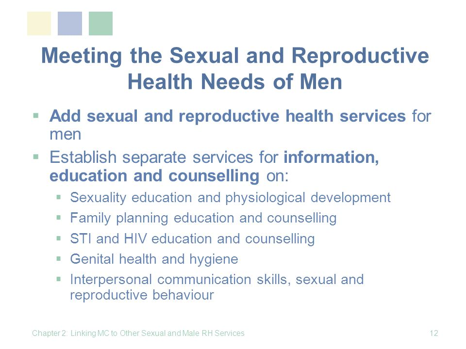 Meeting the Sexual and Reproductive Health Needs of Men