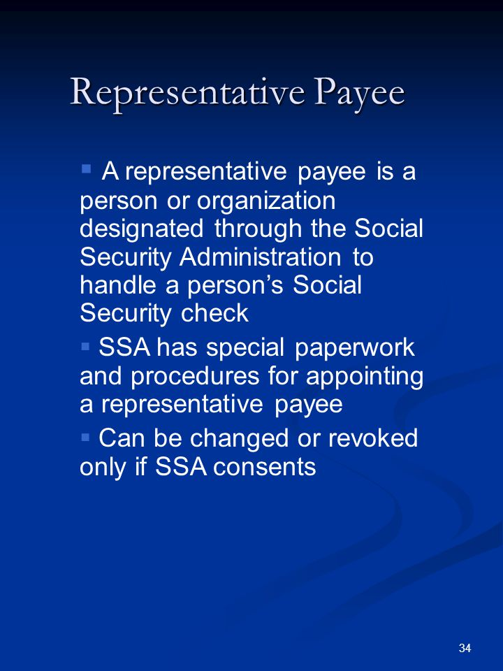 Representative Payee
