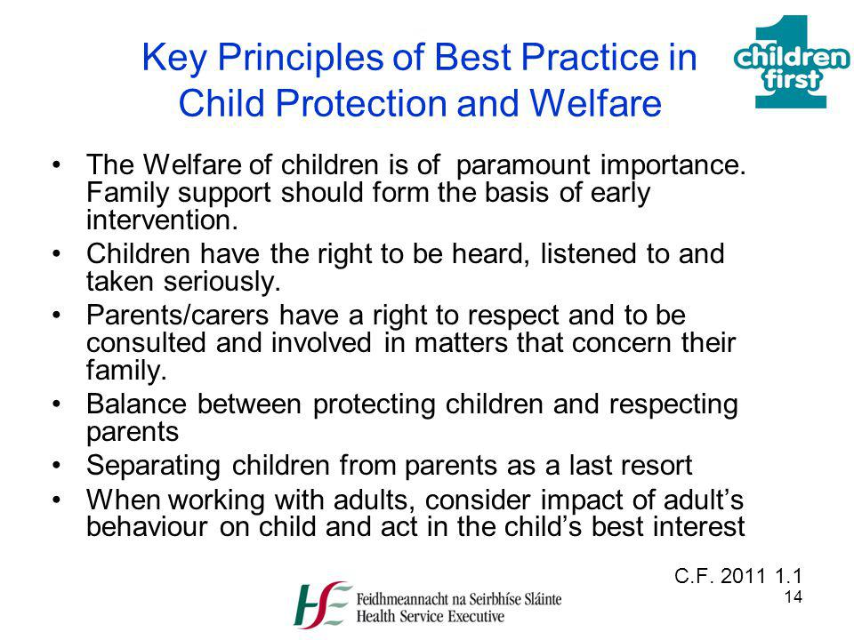 Key Principles of Best Practice in Child Protection and Welfare