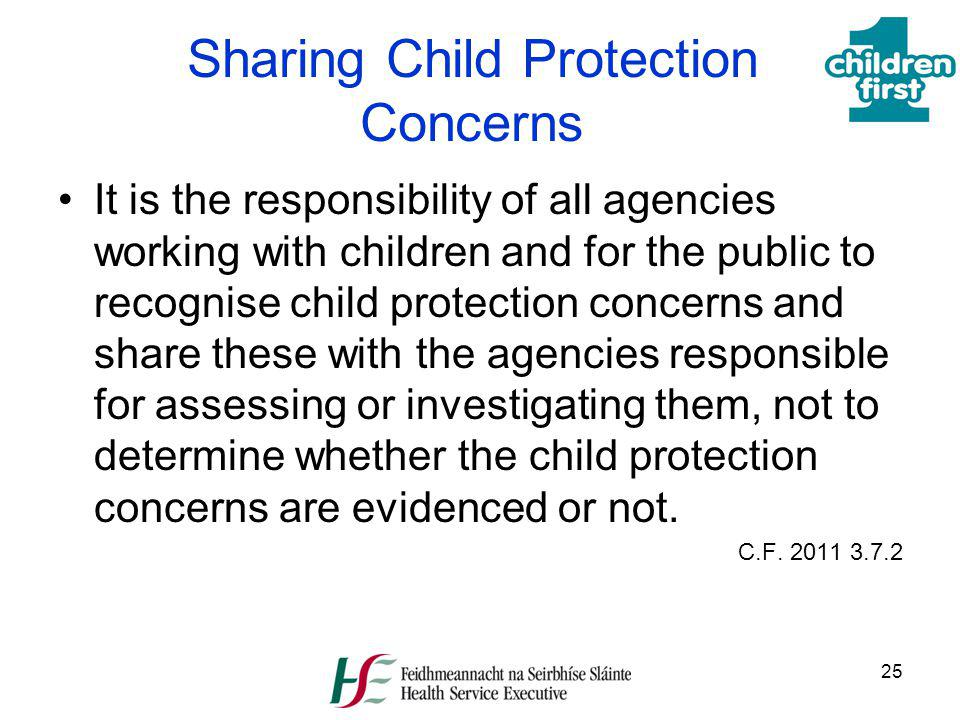 Sharing Child Protection Concerns