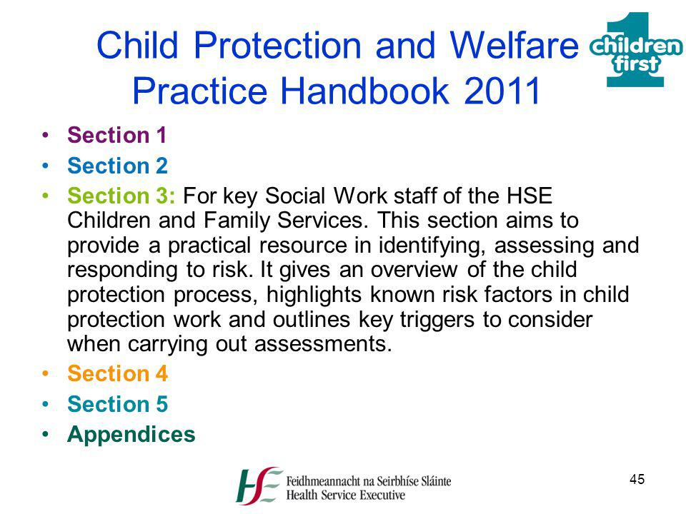 Child Protection and Welfare Practice Handbook 2011