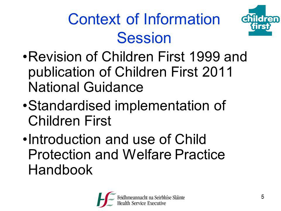 Context of Information Session