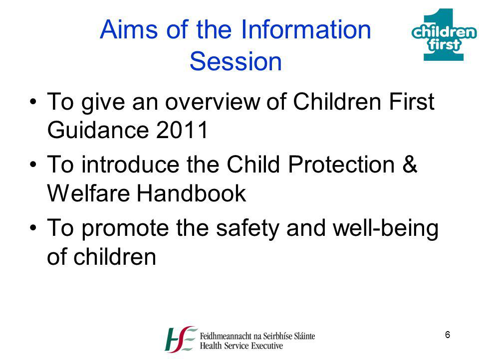Aims of the Information Session