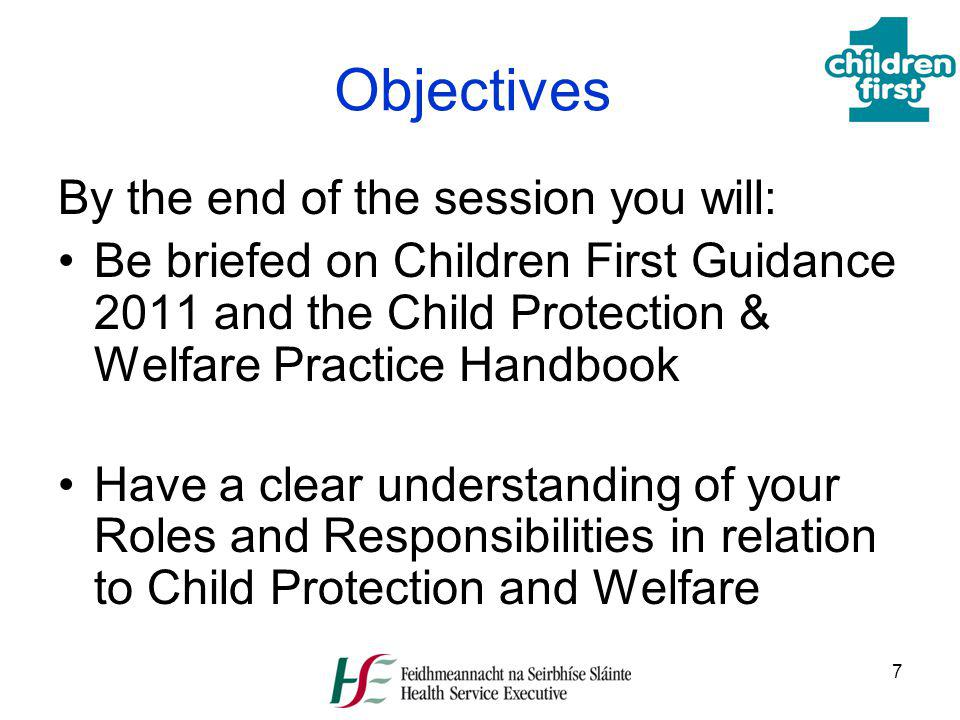 Objectives By the end of the session you will: