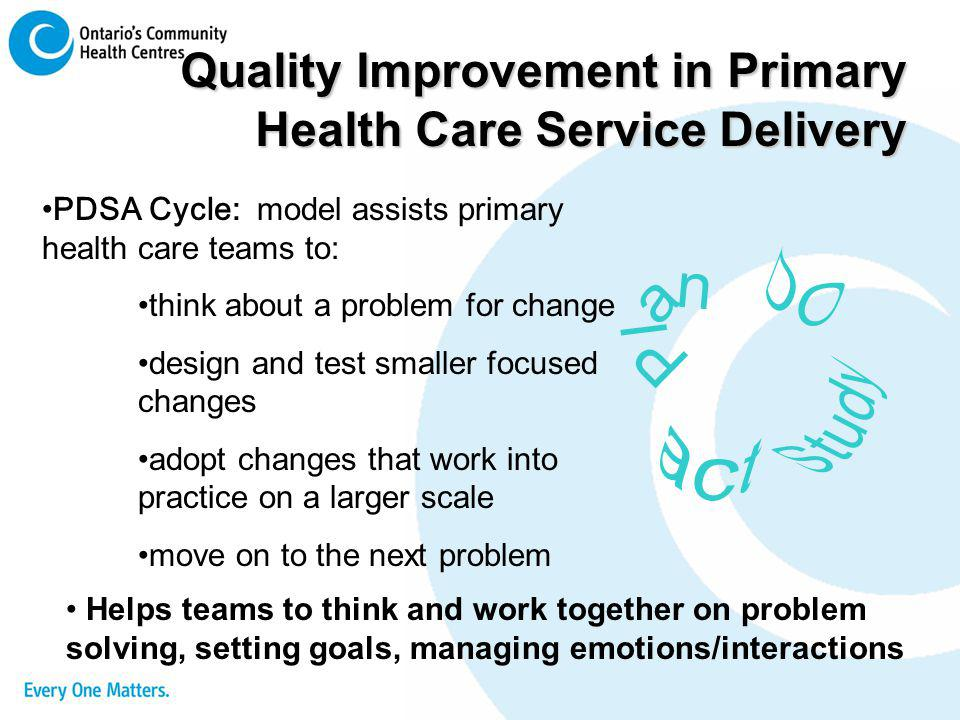 Quality Improvement in Primary Health Care Service Delivery