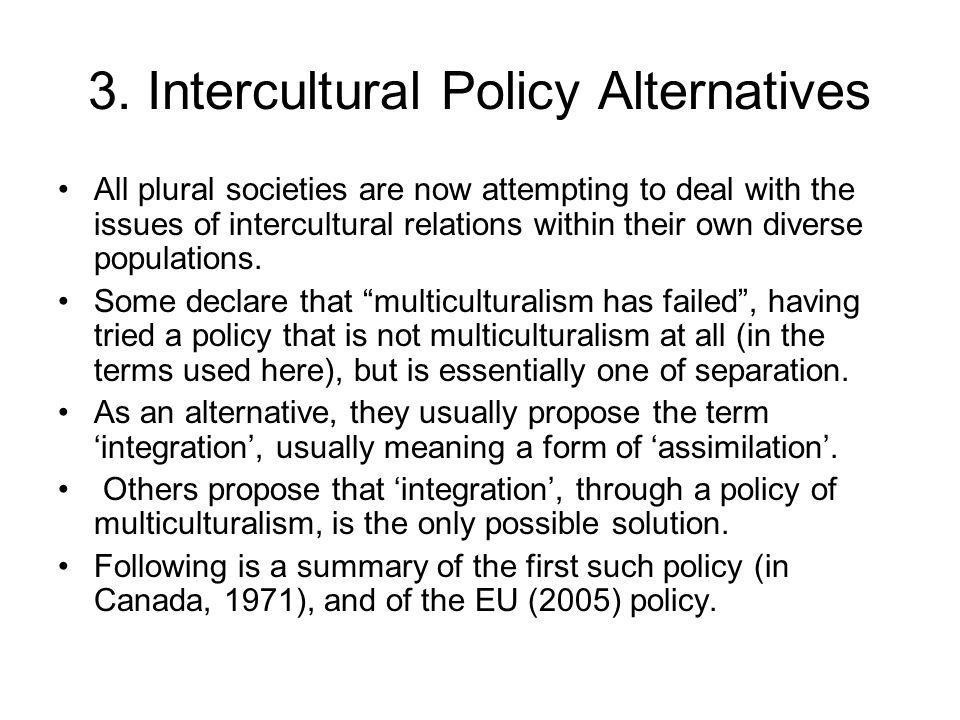 3. Intercultural Policy Alternatives