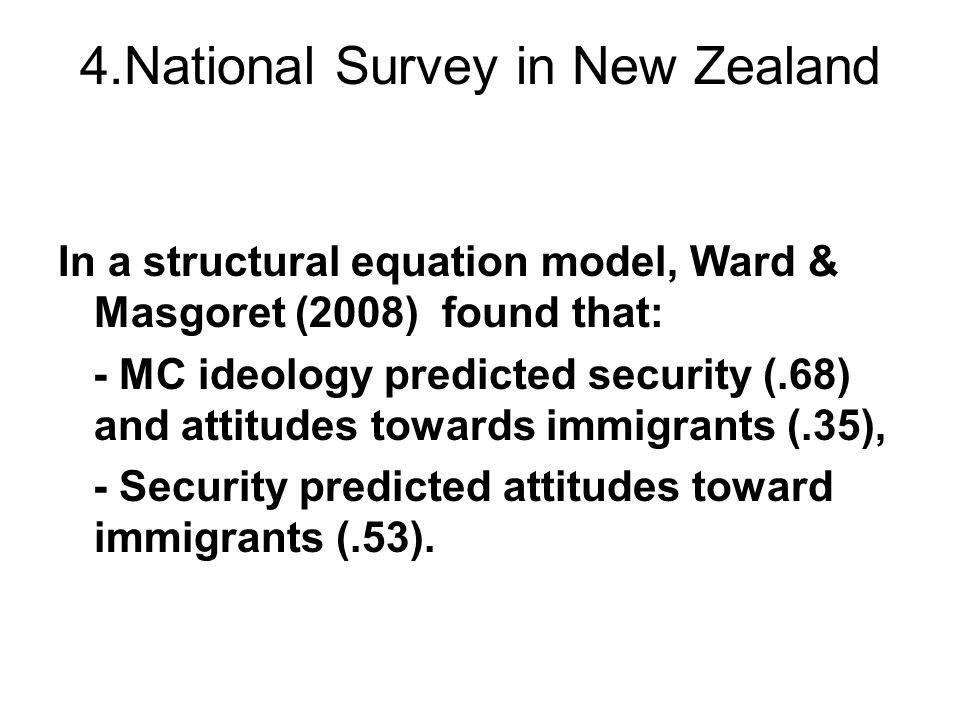 4.National Survey in New Zealand