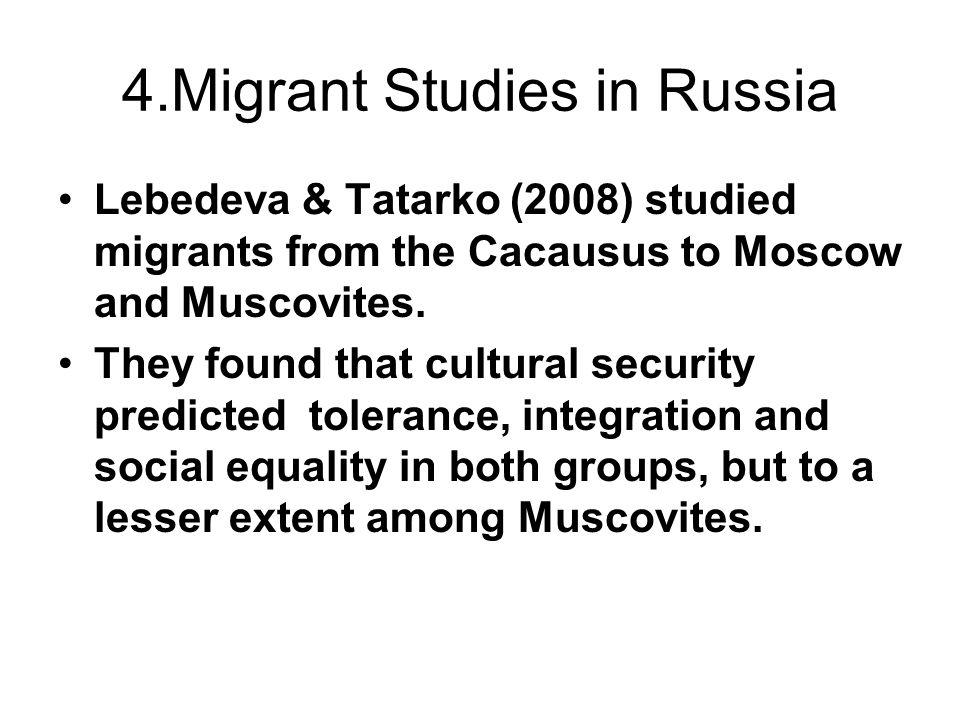 4.Migrant Studies in Russia