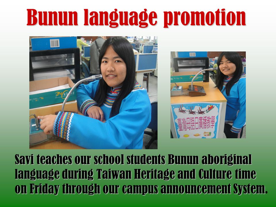 Bunun language promotion